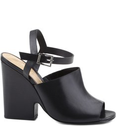 CUT OUT WEDGE BLACK