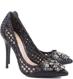 Scarpin Flower Power Black