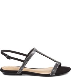 Rasteira Romantci Shine Black
