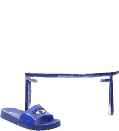 Kit Slide + Necessaire Patch Azul Royal
