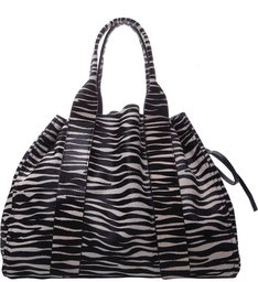 Shopping Maxxi Bag Animal Print P&B