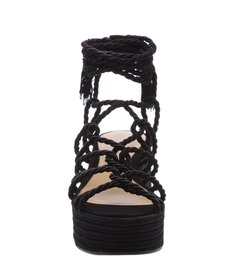 Sandália Flatform Braid Black