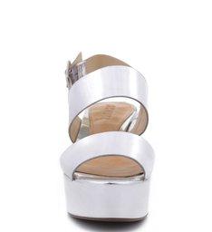 Sandália Flatform Prata