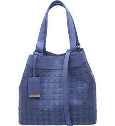 Mini Tote Emma Triangle Jeans - Personalização Bag Charm