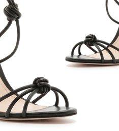 Sandália Salto Strings Knot Black