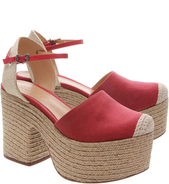 Espadrille Meia Pata S-Natural Red