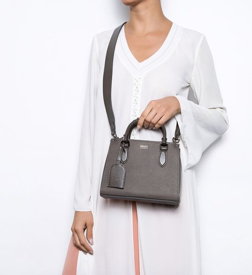 Mini Tote Lorena Strap Grey