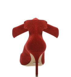 Scarpin Lace Up Scarlet