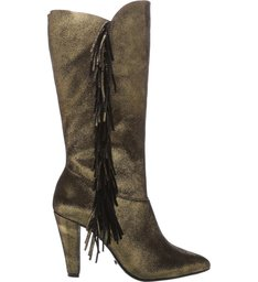 Bota New Western Metallic Suede