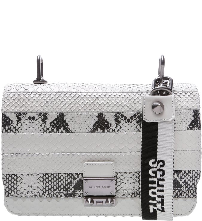 Mini Crossbody Live Love Bright Snake White | Schutz