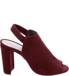 Sandal Boot Salto Camurça Red