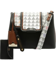 Crossbody Wallet Triangle Black