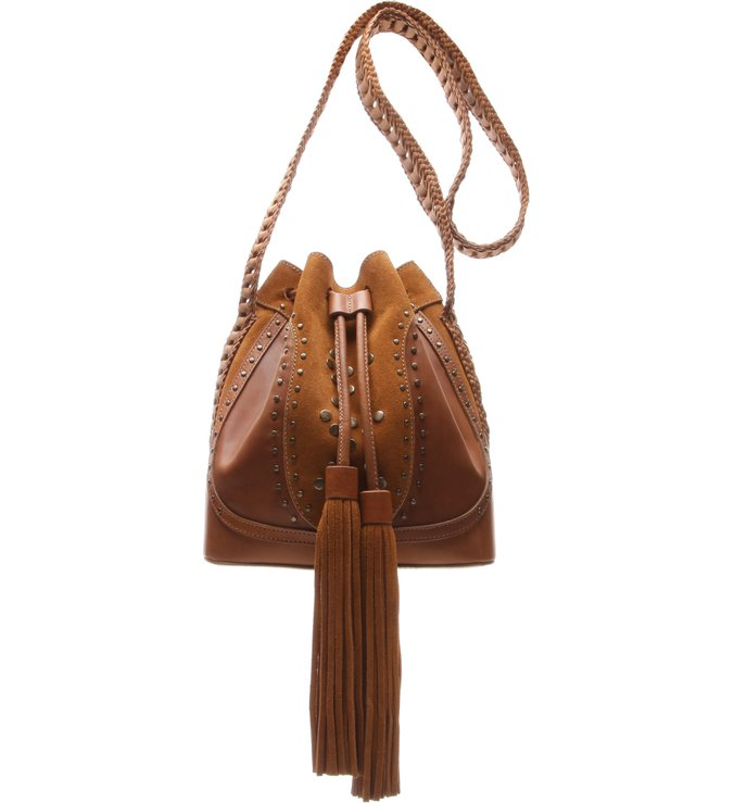 Baby Bucket Tassel Wood
