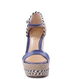 Sandália Plataforma Palha Dress Blue
