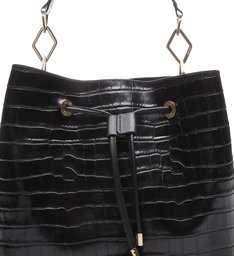 New Bucket Bag Croco Black