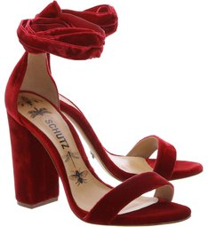 Sandália Velvet Lace Up Scarlet