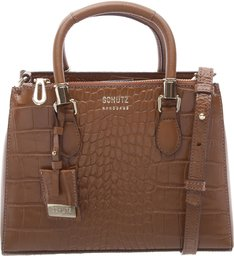 Mini Tote Lorena Croco Wood