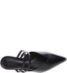 Mule Tiny Heel Straps Black