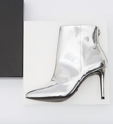 Bota High Heel Metallic