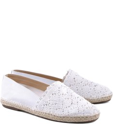 Espadrille Summer Poetry White