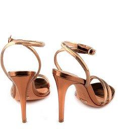 Sandália Metalizada Bronze