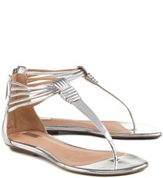 Rasteira Girly Shell Silver
