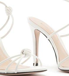 Sandália Salto Strings Knot White