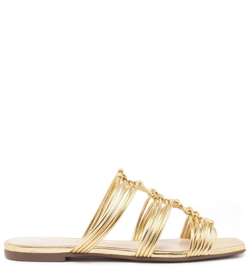 FLAT SLIDE MULTI STRAP GOLD