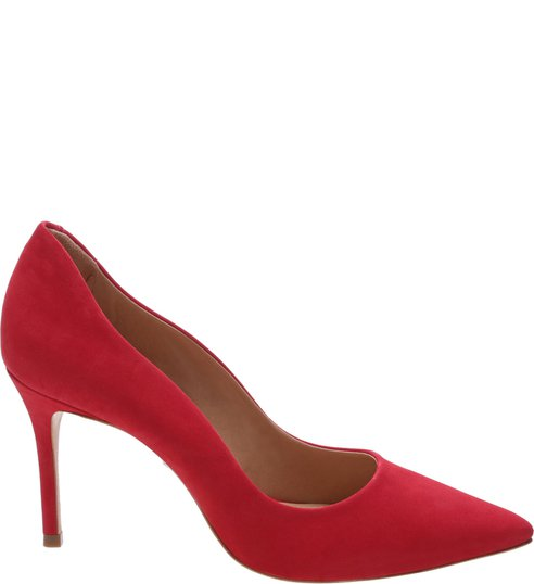 Scarpin Curves Nobuck Red