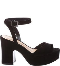 Sandália Plataforma Curves Black