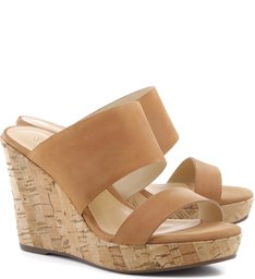 Wedge Double Straps Desert