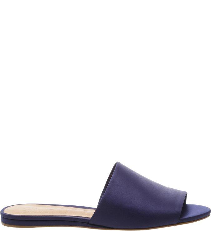 Slide Flat Satin Dress Blue