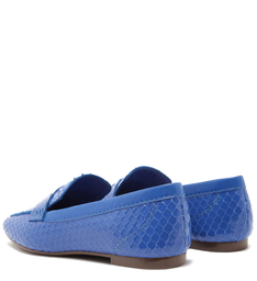 MOCASSIM BRIGHT SNAKE POP BLUE