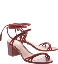 Sandália Block Heel Red Amarração