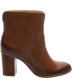 Ankle Boot Black Heel Wood