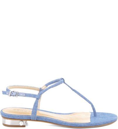Rasteira One Strap Summer Blue Jeans