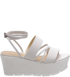 Flatform Double Straps Pearl