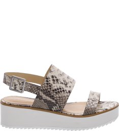Flatform White Sole Double Straps Summer Snake