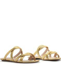 Slide Double Straps Gold