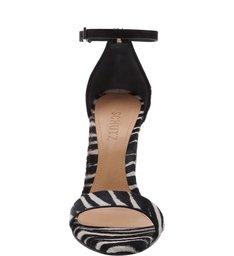 Sandália Gisele Salto Grosso Zebra