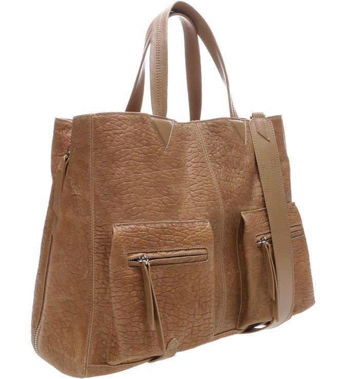 Slouchy Tote Pockets Desert