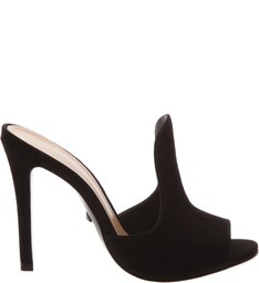 Mule Open Toe Curve Black