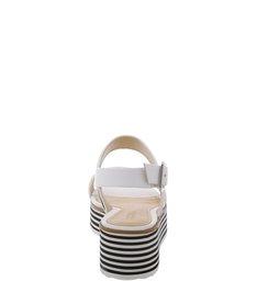 Sandália Flatform Stripes Pearl