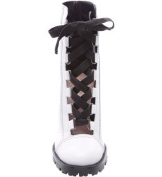 Combat Boots Sola Tratorada Leather White