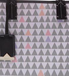 Tote Nina Triangle Pearl - Personalização Bag Charm