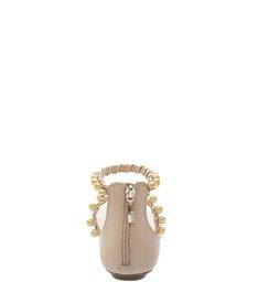 Rasteira Romantic Pearls Nude