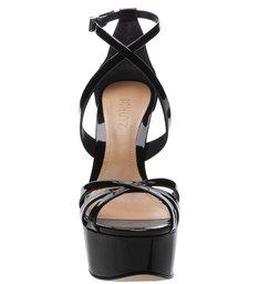Sandália Salto Curves Verniz Black