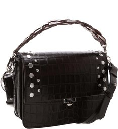 Handbag Aylah Croco Black