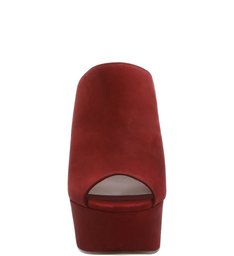 Clog Open Toe Red Wine