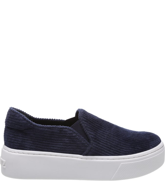 Slip On S-High Velvet Blue